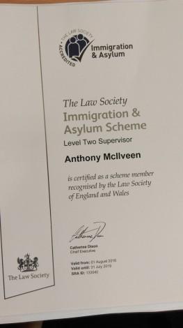 TM - Immigration and Asylum Supervisor Cert
